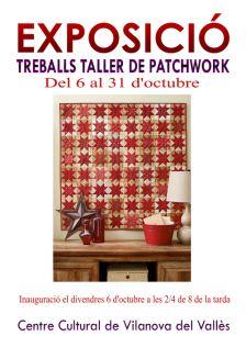 Exposició treballs tallers de patchwork