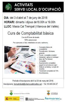 Curs de Comptabilitat a Vilanova del Vallès