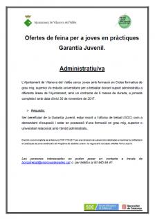 Oferta de feina per a joves en pràctiques